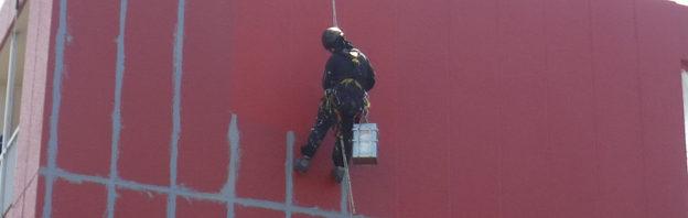 足場が組めない・ロープアクセス・外壁改修・部分塗装